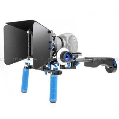 Плечевой упор и обвес Professional Camera Video DSLR 15mm Rail Rod Support System General Matte Box Set RL-04