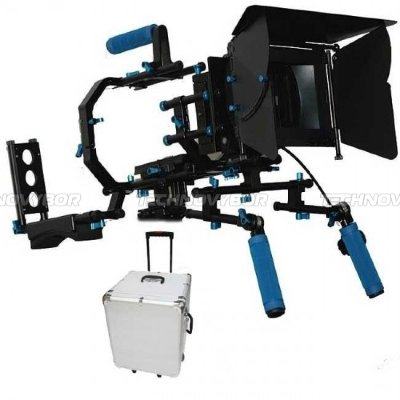 Плечевой упор и обвес Shoulder Mount Follow Focus Matte Box Professional Support System Kit Rig DSLR  RL-03 with Metal Box